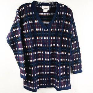 Vintage Worthington Knit Patterned Sweater